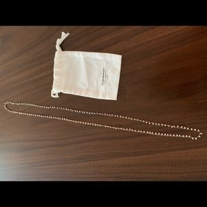 Banana Republic Rose Gold & white beaded necklace.